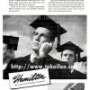 Hamilton【ハミルトン】の広告 -1944年-