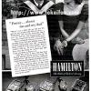 Hamilton【ハミルトン】の広告 -1939年-